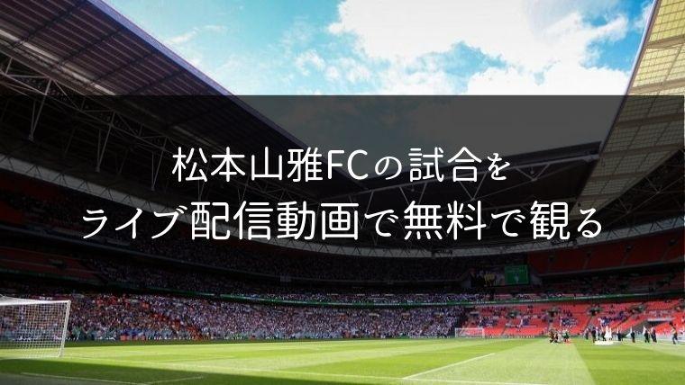 松本山雅FCの試合をライブ配信動画で無料で観れるサイト紹介