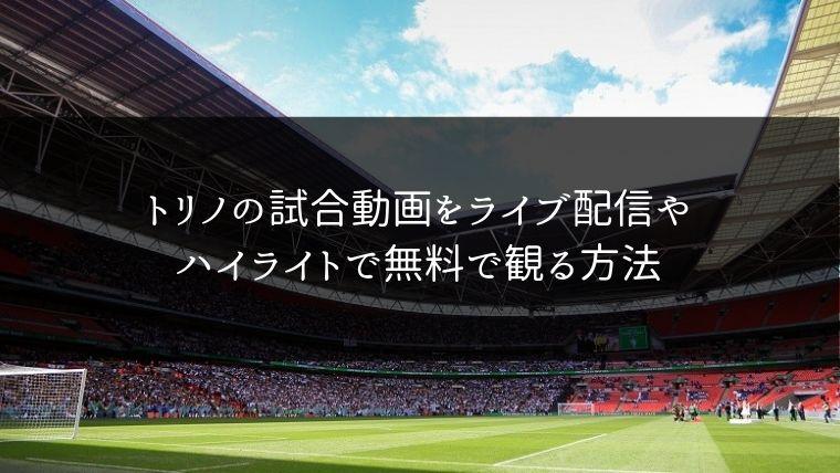 【サッカー】トリノの試合動画をライブ配信やハイライトで無料で観る方法