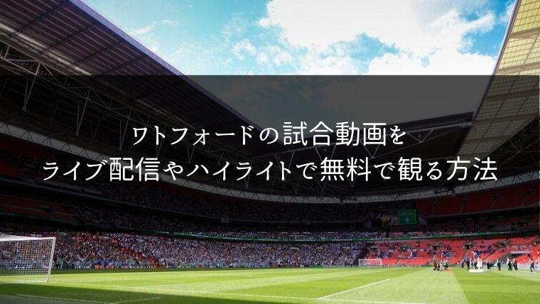 ワトフォードの試合動画をライブ配信やハイライトで無料で観る方法